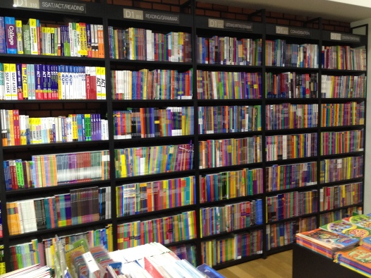 The English textbook section of a relatively small bookstore not really known for English books. #Englishfever