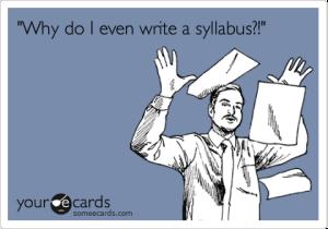 why do i even write a syllabus